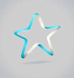 Infinite ribbon five star template vector