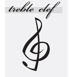 Treble clef icon vector