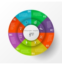 Abstract circle infographic template vector image vector image