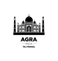 Agra Skyline with Typography Design vector image
