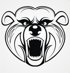 Bear head tribal vector