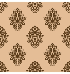 Beige and brown seamless pattern vector image vector image