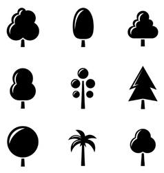 Black tree set vector
