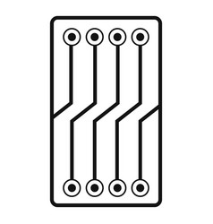 Circuit board icon simple vector