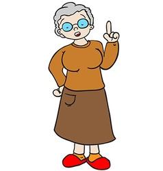 grandmother talking vector image