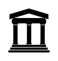 Greek or roman building vector