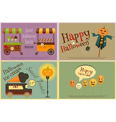 Halloween Sweet Treats vector image
