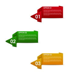 horizontal paper options vector image vector image