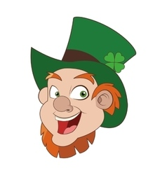 leprechaun character icon vector image