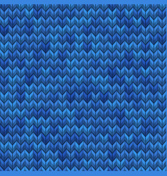 Light and dark blue knit seamless pattern eps 10 vector