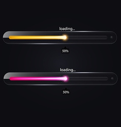 Loading glass bar icon vector