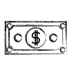 Monochrome blurred silhouette of dollar bill vector