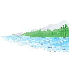Mountain river vector