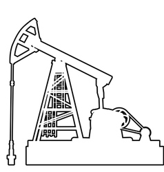 Oil pumpjack Oil industry equipment vector image vector image