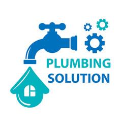 plumbing solution symbol vector image vector image