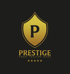 Prestige hotel logo and emblem logo vector
