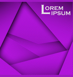 Purple abstract line card background use for vector