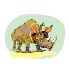 Rhino girl character animal vector
