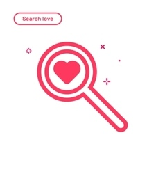 Search love concept in flat vector