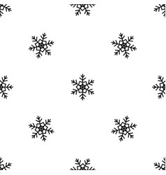snowflake pattern seamless black vector image
