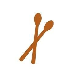 sticks music instrument vector image vector image