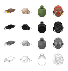 Tent tourism housing and other web icon in vector