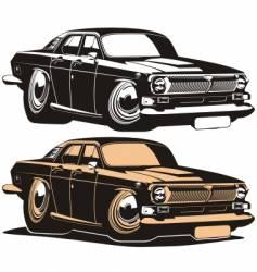Volga vintage car vector image vector image