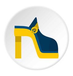Women shoe icon circle vector