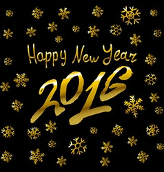 - 2016 Happy New Year golden glowing vector image