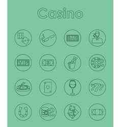 Set of casino simple icons vector