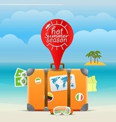 Summer seaside vacation hot summer season vector