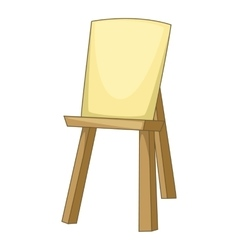 Wooden easel icon cartoon style vector