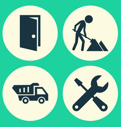 construction icons set collection of maintenance vector image