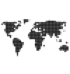 Halftone map vector