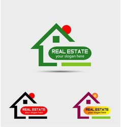 Real estate property logo vector