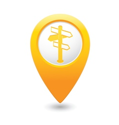 Direct map pointer yellow vector