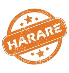 Harare round stamp vector