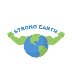 Strong earth planet bodybuilder with huge muscles vector