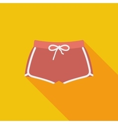 Sports shorts single icon vector