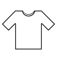 T- shirt line icon vector