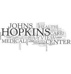 A career at the johns hopkins bayview medical vector