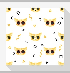 Animal seamless pattern collection with cat 6 vector