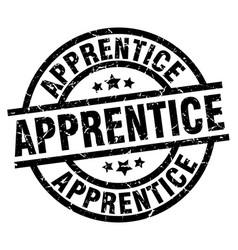 Apprentice round grunge black stamp vector