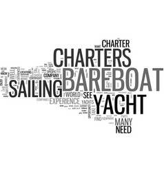 Bareboat yacht charters save money with a vector