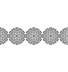 black silhouette of snowflakes lace round vector image vector image