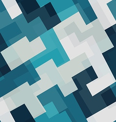 blue tech square seamless pattern vector image