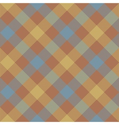 Brown beige diagonal checkered plaid seamless vector