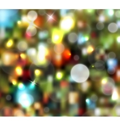 Christmas tree light background vector