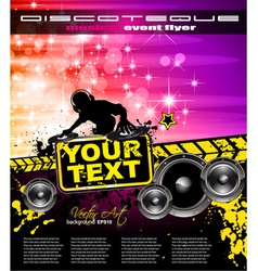 Disco event poster vector