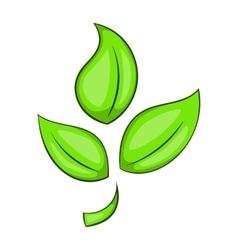 Green plant eco symbol icon cartoon style vector image vector image